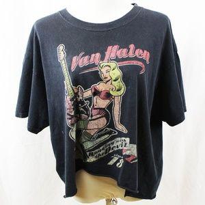 VAN HALEN 2007 Concert Shirt Destroyed - Cropped